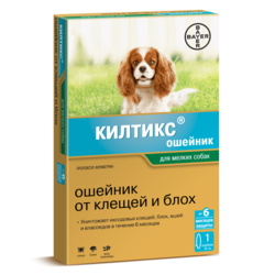 Bayer Kiltix ошейник от блох и клещей для щенков и взрослых собак, 35 см