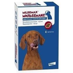 Elanco Мильбемакс антигельминтик для собак, жевательные таблетки, 4 таб. (1 таб/5-25кг)