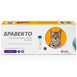 Intervet Бравекто Spot On капли от блох и клещей для кошек 1,2-2,8кг, 112,5мг