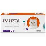 Intervet Бравекто Spot On капли от блох и клещей для кошек 2,8-6,25кг, 250мг