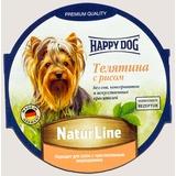 Happy Dog Телятина с рисом консервы для взрослых собак, 85 гр х 11 шт
