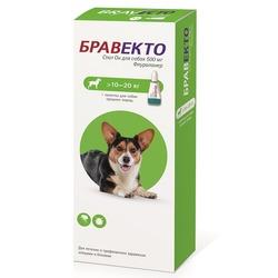 Intervet Бравекто Spot On капли от блох и клещей для собак 10-20кг, 500мг