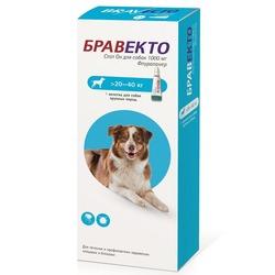 Intervet Бравекто Spot On капли от блох и клещей для собак 20-40 кг 1000 мг