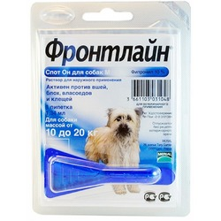 Фронтлайн Спот-Он Frontline Spot On капли от блох и клещей для собак 10-20 кг M пипетка 1,34 мл