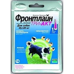 Merial Фронтлайн Три-Акт капли от блох, клещей и летающих насекомых для собак 10-20 кг М пипетка 2 мл