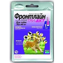 Merial Фронтлайн Три-Акт капли от блох, клещей и летающих насекомых для собак 20-40 кг L пипетка 4 мл