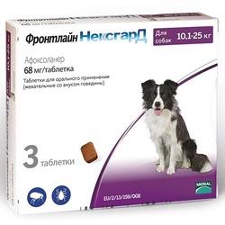 Merial Фронтлайн НексгарД таблетки от блох и клещей для собак 10-25 кг 68 мг , 3 шт. в упаковке