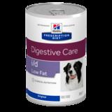 Hill`s I/D низкокалорийный консервированный корм для для лечения заболеваний ЖКТ, Hill's Canine i/d Low Fat, 360 гр.