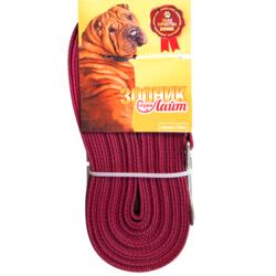 Зооник поводок нейлоновый с латексной нитью (прорезиненный), серия Лайт, цвет бордовый