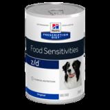 Hill`s Z/D диетический консервированный корм для лечения острых пищевых аллергий, Prescription Diet™ z/d™ Canine ULTRA Allergen-Free, 370 гр.