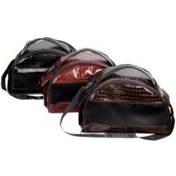 Зооник сумка-переноска полукруглая, кожезаменитель, цвет черный