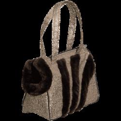 Зооник сумка-переноска с мехом, для собак мелких пород