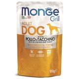Monge Dog Grill Pouch для собак курица с индейкой 100 г