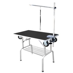 Transgroom SS Grooming Table стол для груминга С КОЛЕСАМИ, 95x55x78h см, цвет черный