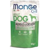 Monge Dog Grill Pouch для собак ягненок с овощами 100 г