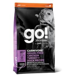 GO! Natural holistic беззерновой сухой корм для пожилых собак всех пород 4 вида мяса: Индейка, Курица, Лосось, Утка, GO! CARNIVORE GF