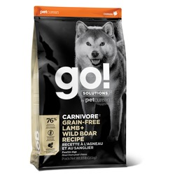 GO! Natural holistic беззерновой сухой корм для собак всех возрастов c ягненком и мясом дикого кабана, GO! CARNIVORE GF