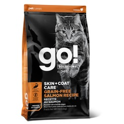 GO! Natural holistic беззерновой сухой корм для котят и кошек, с лососем, GO! SKIN + COAT