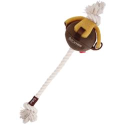 Gigwi Gum Gum Dog игрушка для собак Текстильный мяч с набивкой на канате с эко резиной 40 см, арт.75458