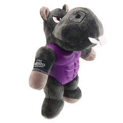 Gigwi игрушка для собак Бегемот с пищалкой в резиновой защите 20 см арт.75452