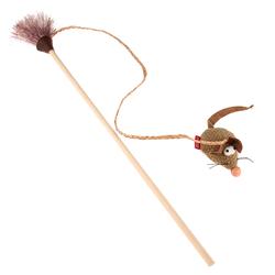 Gigwi игрушка для кошек Эко дразнилка с мышкой 51 см арт.75449