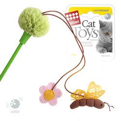Gigwi игрушка для собак Дразнилка на стеке с пчелой с погремушкой 45 см арт.75265