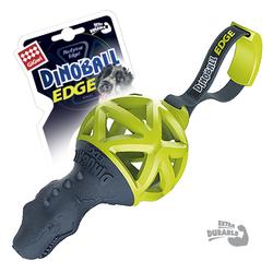 Gigwi DinoBall игрушка для собак Динозавр с ручкой для перетягивания 8 см арт.75428