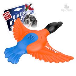 Gigwi Let`s Fly игрушка для собак Утка для метания с пищалкой 30 см арт.75427