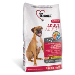 1st Choice Adult для взрослых собак с чувствительной кожей и для шерсти с ягненком, рыбой и рисом