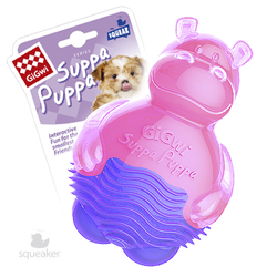 Gigwi Suppa Puppa игрушка для щенков Бегемот с пищалкой 10 см арт.75425