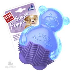 Gigwi Suppa Puppa игрушка для щенков Мишка с пищалкой 10 см арт.75424