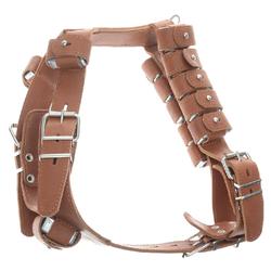 Каскад шлейка с грузами для тренировки собак, 16 грузов, объем груди 90-100 см, цвет коричневый.