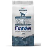 Monge Cat Monoprotein Sterilised Trout корм для стерилизованных кошек с форелью