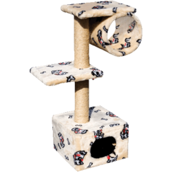 Зооник домик-когтеточка для кошки, 40*36*98 см