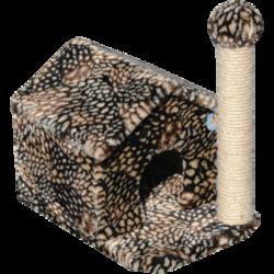 Зооник домик со столбиком когтеточкой для кошки, 36*52*50 см