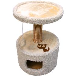 Зооник домик-когтеточка для кошек, 46*46*70 см