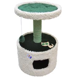 Зооник домик-когтеточка для кошек, 46*46*70 см, зеленый