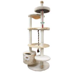 Зооник многоуровневый игровой комплекс для кошек, 96*84*221 см