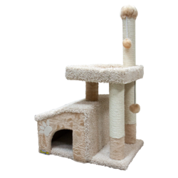 Зооник комплекс-когтеточка для кошек, 64*47*103 см, бежевый