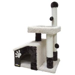 Зооник комплекс-когтеточка для кошек, 64*47*103 см, темно-коричневый
