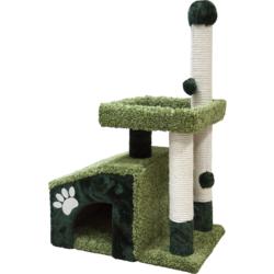Зооник комплекс-когтеточка для кошек, 64*47*103 см, зеленый