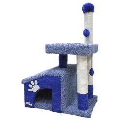 Зооник комплекс-когтеточка для кошек, 64*47*103 см, синий