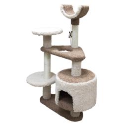 Зооник многоуровневый игровой комплекс для кошек, 103*62*130 см, коричневый