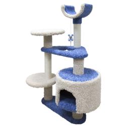 Зооник многоуровневый игровой комплекс для кошек, 103*62*130 см, синий
