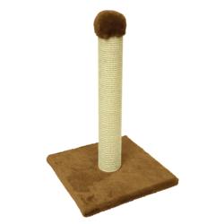 Зооник, когтеточка столбик на подставке, 58 см, цвет коричневый