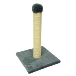 Зооник, когтеточка столбик на подставке, 58 см, цвет серый