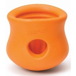 West Paw игрушка под лакомства для собак Zogoflex Toppl, S 8 см, оранжевая