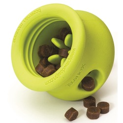 West Paw игрушка под лакомства для собак Zogoflex Toppl, L 10 см, зеленая
