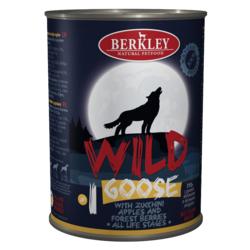 Berkley Wild Беркли Вайлд Гусь с цукини, яблоками и лесными ягодами для собак всех возрастов №1, 400 гр.