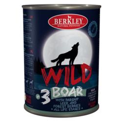 Berkley Wild Беркли Вайлд Кабан с пастернаком, сладким луком и лесными ягодами для собак всех возрастов №3, 400 гр.